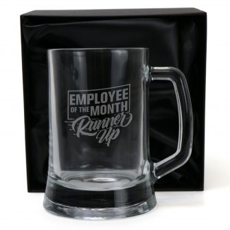 Employee Of The Month Runner Up 500ml Glass Beer Mug with Gift Box