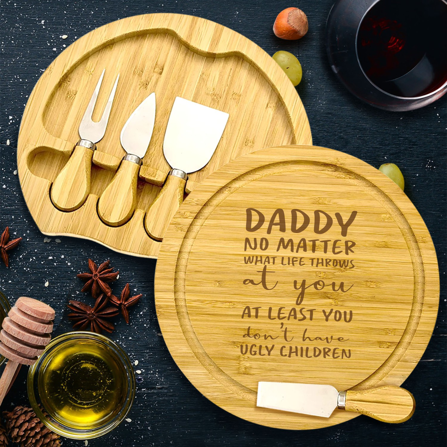 Ugly Children Engraved Cheese Board Gifts